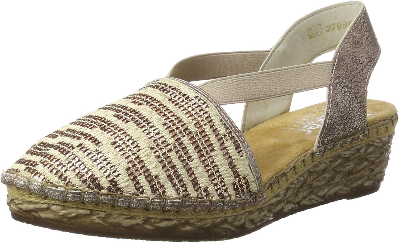 Rieker 68979 Espadrille Sandal shoes Pink