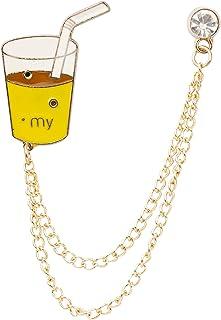 شراب عصائر للرجال من نايتثود مع سلسلة شراشيب طوق بروش دبوس طية صدر السترة