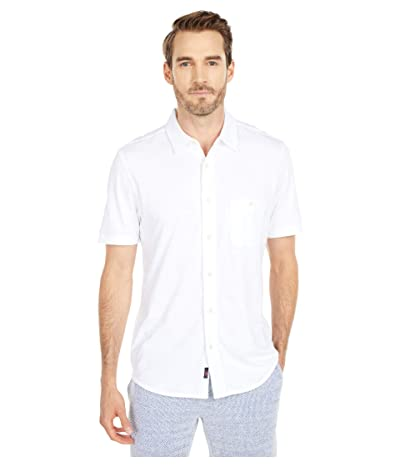 Faherty Short Sleeve Knit Seasons Shirt (White) Men
