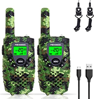 FAYOGOO Kids Walkie Talkies, 22-Channel FRS/GMRS Radio, 4-Mile Range Two Way Radios with..