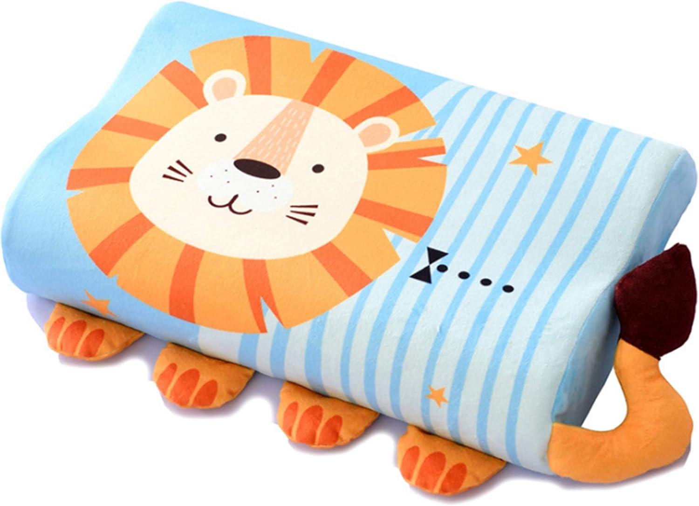 Almohada de espuma viscoelástica de 0-6 años con relleno, almohada ortopédica, almohada de algodón para el cuello, almohada suave de rebote lento de fibra para bebé