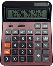 $43 » XYW Calculator-2pcs Desktop Computer with 14 Digits Large Display Sensitive Button Solar and Battery Dual Power Supply Off...
