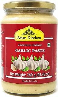 Asian Kitchen Garlic Cooking Paste 26.5oz (750g) ~ Vegan   Glass Jar   Gluten Free   NON-GMO   No Colors   Indian Origin