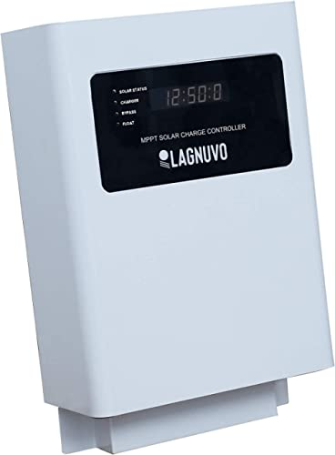 LAGNUVO MPPT Solar PCU Charger 12/24V, 30/50AMP MPPT Solar Charge Controller