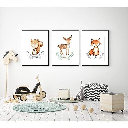 4er set kinderzimmer babyzimmer poster bilder din a4. Black Bedroom Furniture Sets. Home Design Ideas
