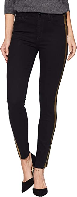 Kitten Mid-Rise Ankle Skinny in Black/Gold Foil