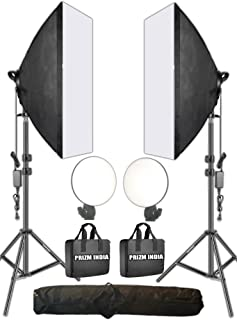 OCTOVA LV460 Professional Soft Led Still & Video Light Softbox Kit (2) for YouTube Constant Studio Videography, Portrait Shooting, Product Photography Continuous Key, Fill and Back Light