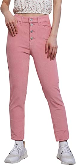721 High-Rise Button Front Skinny