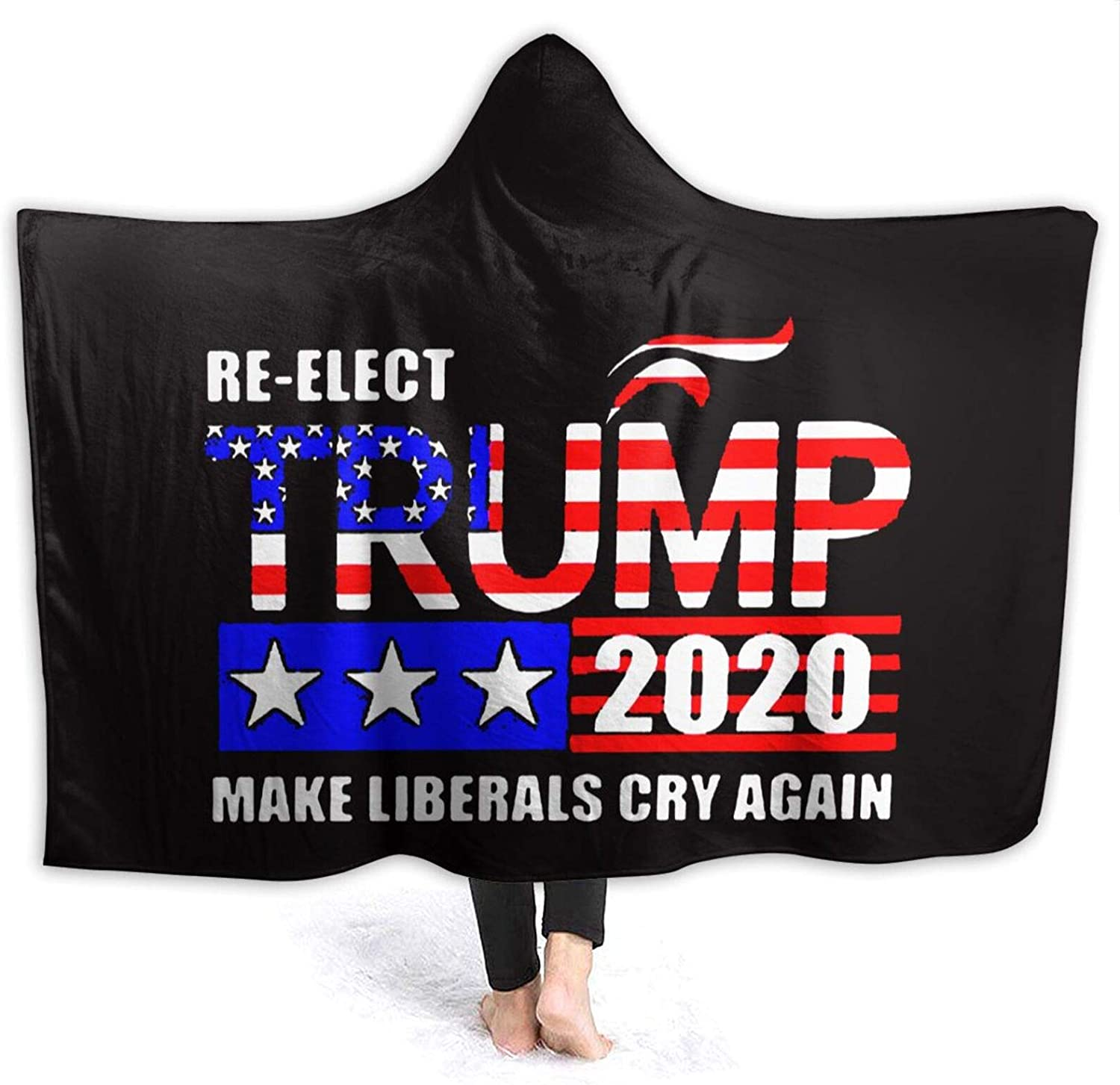 Re-Elect Trump 2020 Make 5 ☆ popular Liberals Wearable Don't miss the campaign Thr Cry Again Blanket