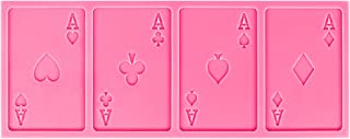 Funshowcase Sugarcraft Playing Cards 4 Aces Poker Four of a Kind Fondant Silicone Mold