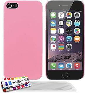 Muzzano F1409466 - Funda para Apple iPhone 5S + 3 protecciones de pantalla, color rosa