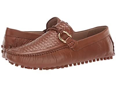 CARLOS by Carlos Santana Malone Driver Loafer (Tan Interweave Calfskin Leather) Men