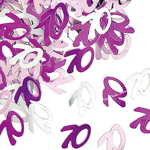 70th Pink Silver Purple Glitz Girls Birthday Party Anniversary Classy Decoration Celebration