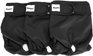 """Avont [3 Pack Washable Female Dog Diapers (Small/8""""-13.5"""" Waist), Premium Reusable Highly Absorbent Doggie Diapers Wraps D..."""
