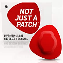 NOT JUST A PATCH - Freestyle Adhesive Patches Libre Sensor - Patches Dex-com CGM Adhesive Patch G6 - Hypoallergenic Waterproof Adhesive - 20 Pack Patch Adhesive - Diabetic Adhesive Patch CGM - Red