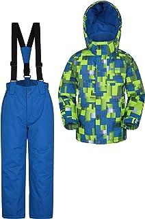 Coutures soud/ées Fluo Mountain Warehouse Combinaison de Pluie Puddle pour Enfants imprim/ée imperm/éable Respirant Manteau de Pluie pour Enfants pour Les Voyages