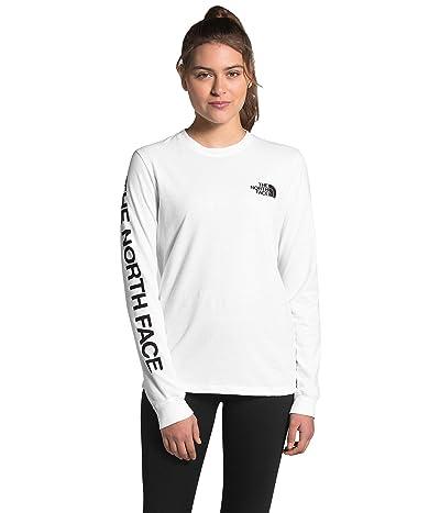 The North Face Brand Proud Long Sleeve Tee (TNF White/TNF Black) Women
