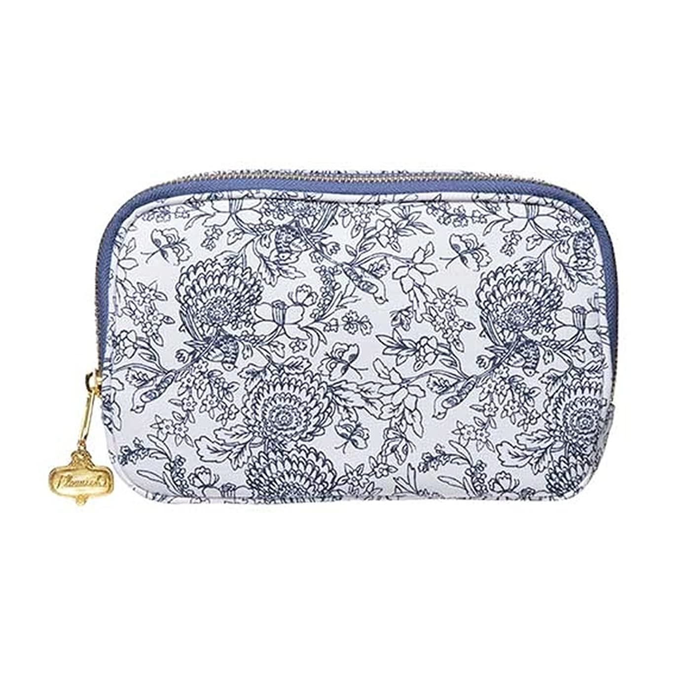 C.R. Gibson Blue Floral Travel Cable Organizer Case, 8.5