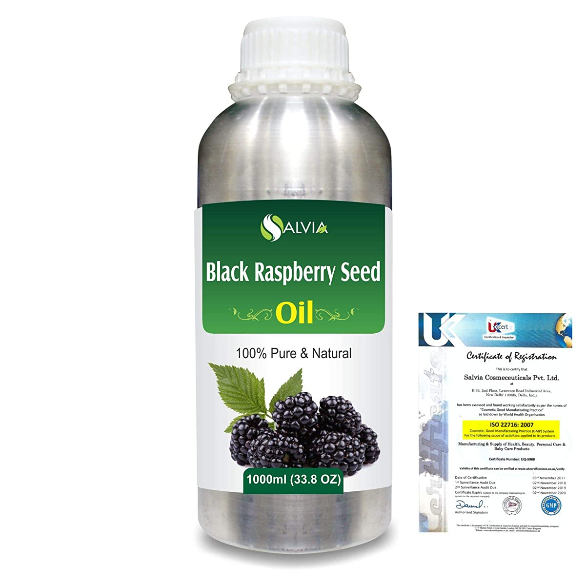 アウター方法ファーザーファージュBlack Raspberry Seed (Rubus occidentalis)100% Natural Pure Carrier Oil 1000ml/33.8fl.oz.