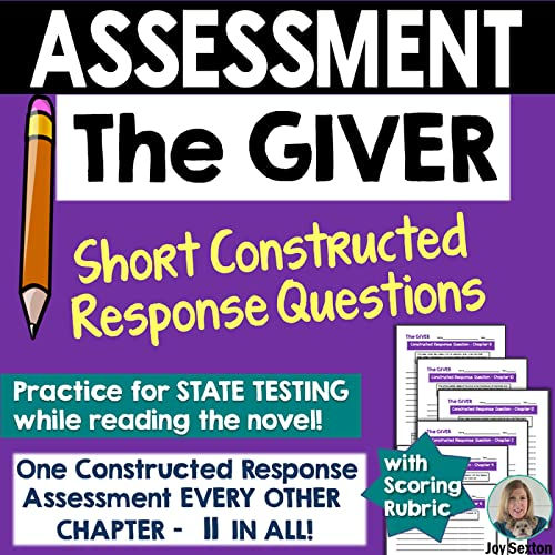 ASSESSMENT: The GIVER - Short Constructed Response Questions - Standards Aligned (English Language Arts Literacy Unit 1 Answers)