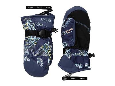 Roxy Kids Jetty Mitt (Little Kids/Big Kids) (Crown Blue/Freespace Girl) Extreme Cold Weather Gloves
