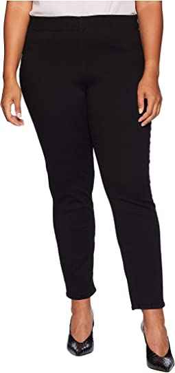 Plus Size Pull-On Skinny Ankle in Black