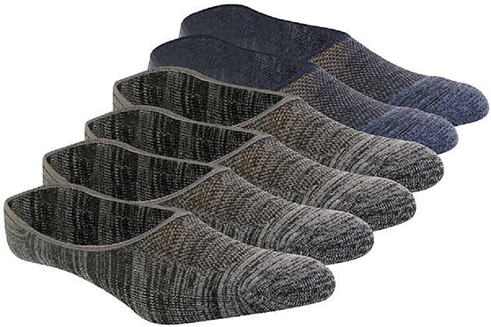 Cushioned Men's No Show Socks Non Slip Liners 6 Pair by Weatherproof Size 6-12