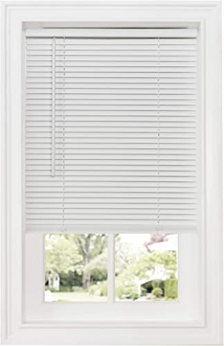 """new arrival Achim high quality Home Furnishings Cordless GII Deluxe Sundown 1"""" discount Room Darkening Mini Blind, 32"""" x 64"""", White outlet online sale"""