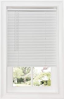 "Achim Home Furnishings Cordless GII Deluxe Sundown 1"" Room Darkening Mini Blind, 34"" x 64"", White"