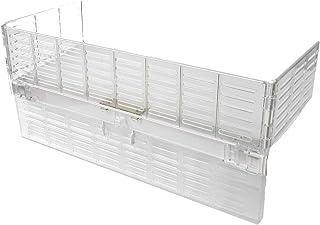 reer Herdschutzgitter mit Schalterabdeckung, zum Zusammenklappen, aus Kunststoff, transparent