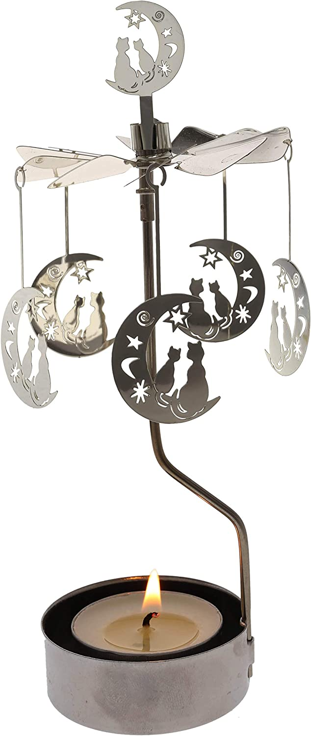 Rotary shipfree Candle Holder Spinning Candleholder Moo Rapid rise Small Metal Gift
