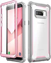 i-Blason Case for Galaxy Note 8 2017 Release, [Ares Series] Full-body Rugged Clear Bumper Case with Built-in Screen Protector (Pink)