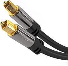 KabelDirekt Optical Digital Audio Cable (15 Feet) Home Theater Fiber Optic Toslink Male to Male Gold Plated Optical Cables Best For Playstation & Xbox - Pro Series