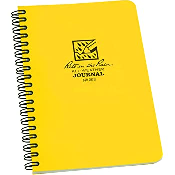 Rite in the Rain All-Weather 6 x 9 Top-Spiral Notebook No. 169 Yellow Cover Universal Pattern