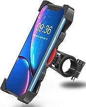 Bovon Support Téléphone Vélo, 360° Rotatif Porte Téléphone Bicyclette/Moto, Universel Support Vélo du Guidon avec 4 Coins de Soutien Stable pour Les 3,5-6,5 Pouces Smartphones
