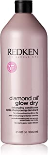 Redken Diamond Oil Glow Dry Detangling Conditioner for Unisex, 33.8 Ounce