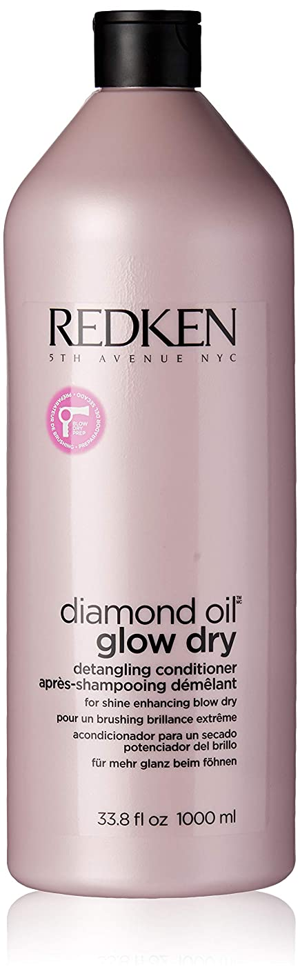 外部追加コンパクトレッドケン Diamond Oil Glow Dry Detangling Conditioner (For Shine Enhancing Blow Dry) 1000ml