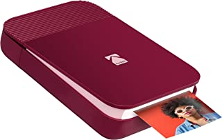 KODAK Smile Instant Digital Printer – Pop-Open Bluetooth Mini Printer for iPhone & Android – Edit, Print & Share 2x3 ZINK Photos w/FREE Smile App – Red