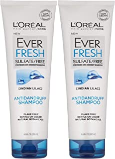 L'Oreal Paris EverFresh Antidandruff Shampoo Sulfate Free, 8.5 Fluid Ounce (Pack of 2)