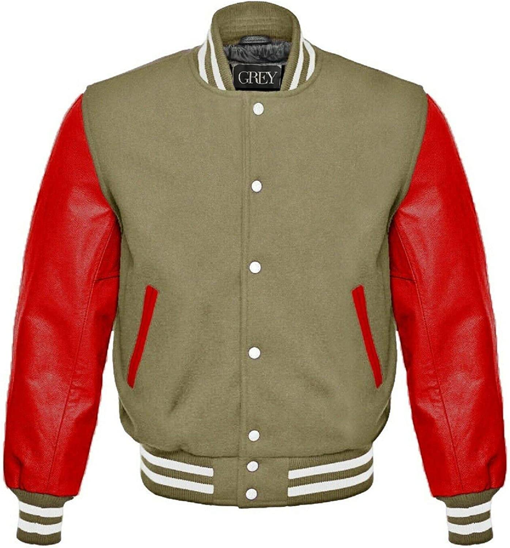 Varsity Jacket | Baseball | Letterman | Leather & Wool Jacket | College Jacket | Bomber Jacket | (4XL)