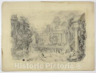 Historic Pictoric Print : A City of Ancient Greece and The Return of a Victorious, C. Scott, c 1863, Vintage Wall Decor : 48in x 36in