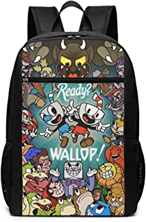 Mochila Mochila de Viaje Cup-Head Backpack Laptop Backpack School Bag Travel Backpack 17 Inch