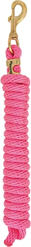 """Weaver Leather Poly Lead Rope with Solid Brass 225 Snap, Coral/French Blue/Mint/Lavender, 5/8"""" x 10'"""