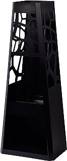 dobar Gartenofen, Gartenkamin, Design XL eckig, Terrassenofen groß mit Stauraum für Kaminholz, Feuerstelle Stahl pulverbeschichtet, schwarz, 48x30.5x124 cm, 35424