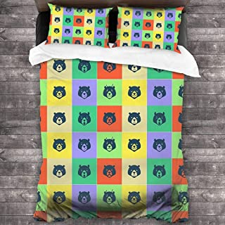 NA We-Bare-Bears Duvet Cover Bedding Set, 3 Piece Set Bedding Twin Full Queen King Bed(Duvet Cover + 2 Pillowcases)