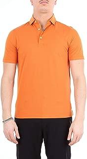 HERITAGE Luxury Fashion Mens 0806PARANCIO Orange Polo Shirt | Season Outlet