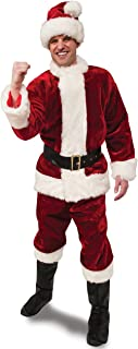 Rubie's Adult Crimson Regency Plush Santa Suit With Gloves