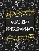 Quaderno Pentagrammato: 12 pentagrammi per pagina - Quaderno di musica - Formato Grande 21,59 x 27,94 cm, 100 pagine (Ital...