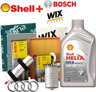 Kit Tagliando 4filtros Varios + 9lt Aceite Shell Helix HX85W40(wl7439, 0450906459, wa9548, v3707)