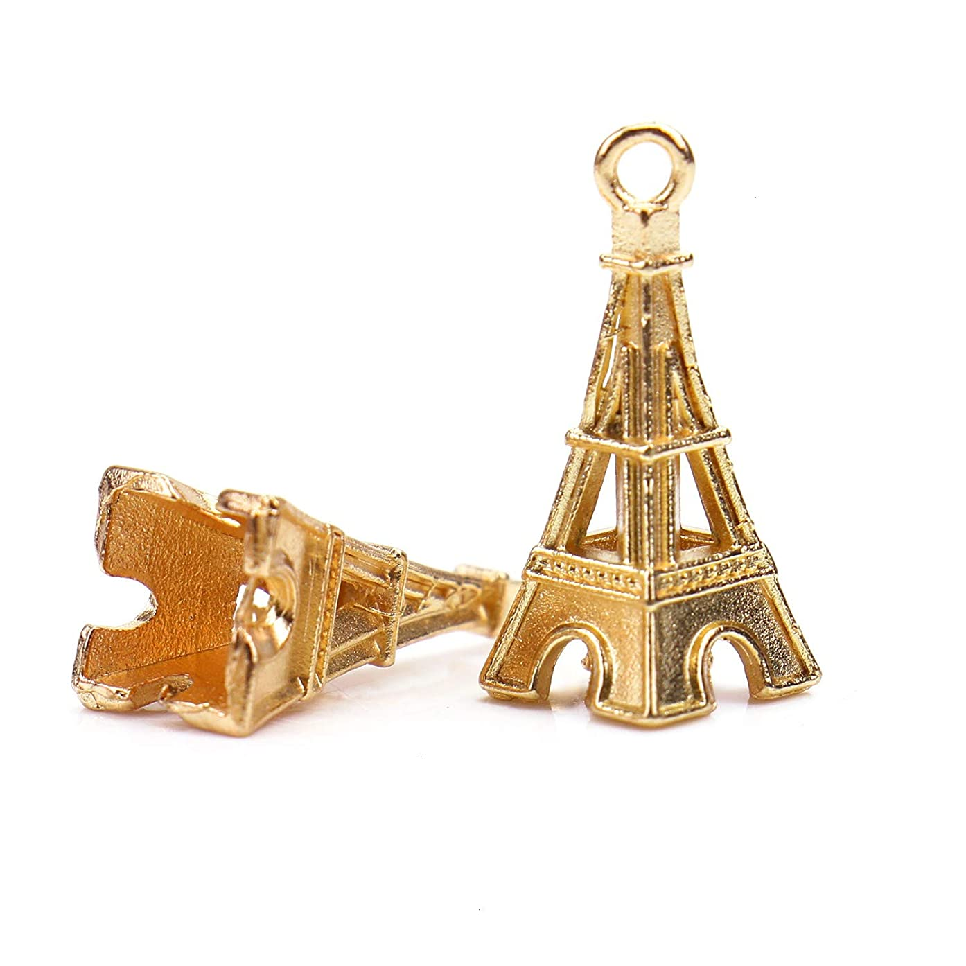 Monrocco 30 Pcs Alloy 3D Eiffel Tower Charms Pendant Metal Beads Charms Jewelry Findings for DIY Crafts Jewelry Making